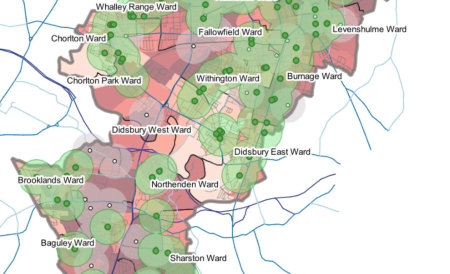 map of manchester revealing areas of food poverty